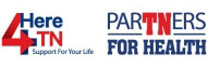 4Here Support for your Life TN Partners for health Logo